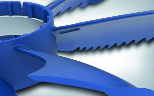 Bionische Formteilgestaltung des  Ventilatorflügels mit optimierter Geometrie zur Reduzierung von Antriebsenergie und Geräusch. (Bildquelle: Ziehl-Abegg)