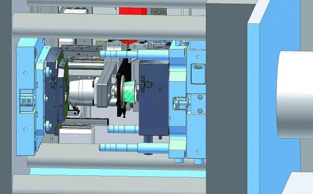 Durch einen multifunktionalen Werkzeugaufbau mit austauschbaren beheizten Nadelverschlüssen lassen sich schnell und unkompliziert die individuellen Spritzgießwerkzeuge installieren. (Bildquelle: Müller)