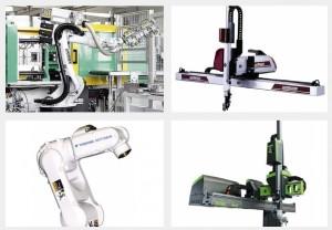 Die Marktübersicht Roboter und Handhabungssysteme gehört zu den am schnellsten wachsenden. Die Automatisierung der Prozesse schreitet eben unermüdlich voran. Bildquelle: Arburg, Wittmann Battenfeld, Krauss Maffei, Engel)
