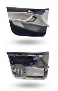 Das Hanffaserverstärkte PP-Harz wird unter anderem in Türverkleidungen eingesetzt.