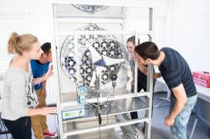 Acrylglas-Windkanal für Hochschule Esslingen
