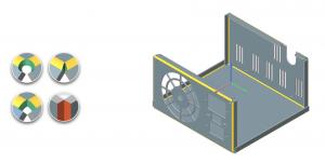 Kanten, Rundungen und Laschen lassen sich nun unterschiedlich einfärben. (Bildquelle: Mervisoft)