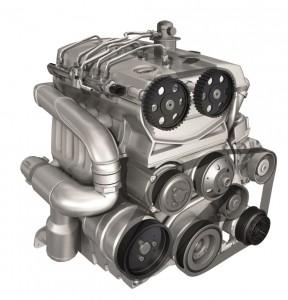 Einbaubeispiel: Am unteren Drittel des Motors sind die Drehschwingungsdämpfer zu erkennen, mit und ohne Metallkomponente. (Bildquelle: Winkelmann)