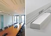 Integrierte Akustikabsorber in Deckenelementen ermöglichen hohe Schalldämpfung