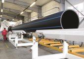 K 2016: Komplettlinie zur Herstellung von PO-Rohren mit Durchmessern von bis zu 1,2 m