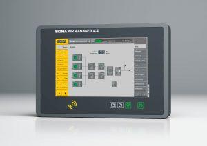 Die Steuerung überwacht und steuert hocheffizient alle Komponenten einer Druckluftstation. (Bildquelle: Kaeser)