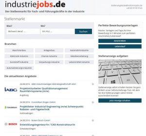 industriejobs.de ist das neue Format im Stellenmarkt