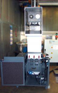 Zentralmühle mit Sicht auf Luftkühlung und der Eindrückstempel (Bildquelle: Getecha)