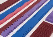 K 2016: PU-Schaumelemente in kräftigen Farben