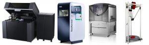 Aus der Marktübersicht Rapid Prototyping wurde die Marktübersicht 3D-Druck und additive Fertigung: Die Technik gilt nun als Produktionsverfahren (Bildquelle: Stratasys, Arburg, Opiliones)