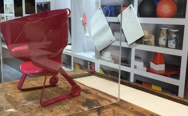 Entwicklungschritt für den Teamup Chair. (Bildquelle: Redaktion Plastverarbeiter / Etwina Gandert)