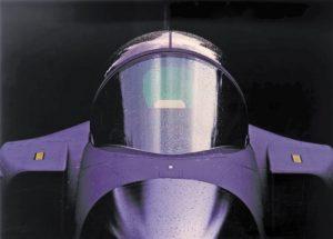 Zu den Anwendungen von Plexiglas GS 249 stretched gehören auch Windschutzscheiben von Jets. (Bildquelle: Evonik)