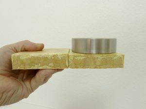 Mit Wasser verklebte Schaumformteile (Bildquelle: Fraunhofer Umsicht)