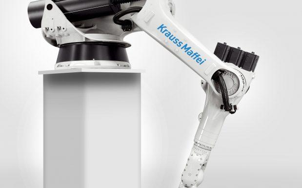 """Platz 10: Die <a href="""" http://marktuebersichten.plastverarbeiter.de/mu-roboter-und-handhabungssysteme """"target=""""_blank"""">Marktübersicht</a> spiegelt  die Weiterentwicklung  der Roboter und Handhabungsgeräte von 32 Anbietern wider. Starten Sie den Vergleich und finden Sie das passende Gerät. (Bildquelle: Krauss Maffei)"""