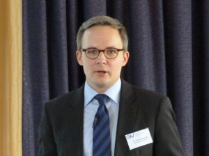 Dr. Oliver Möllenstädt, Hauptgeschäftsführer des GKV, bilanzierte in Frankfurt eine positive Geschäftsentwicklung der kunststoffverarbeitenden Industrie. (Bildquelle: Redaktion PLASTVERARBEITER, rm)