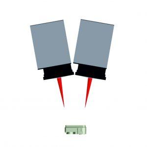 Prinzip des Duo-Scan-Verfahrens: Zwei Laserstrahlen werden mit konstanten Versatz über das zu verschweißende Gehäuse geführt. (Bildquelle: Wolf)