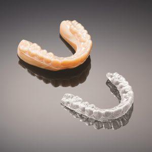 3D-gedruckter Zahnkranz zur Herstellung transparenter Aligners (Bildquelle: Alphacam)
