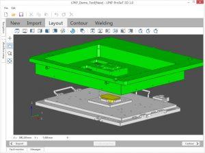Die Software importiert Bauteile und Halterung direkt aus den CAD-Entwürfen. (Bildquelle: LPKF)