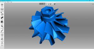 Screenshot eines 3D-Modells (Bildquelle: Artec 3D)