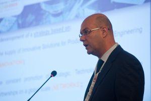 Manuel Oliveira, Generalsekretär des Verbandes der portugiesischen Werkzeugindustrie, Cefamol, auf der Pressekonferenz der Messe Stuttgart in Marinha Grande (Bildquelle: Cefamol)