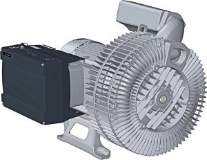 Der Leistungsbereich der frequenzgeregelten Seitenkanalverdichter wurde bis auf 22 kW erweitert. (Bildquelle: Gardner Denver Elmo Rietschle)