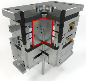 Das isolierte Formenkonzept Isoform des Konstruktionsbüro Hein, Neustadt, verbessert die Temperierung des Werkzeugs und erhöht die Energieeffizienz, Präzision sowie Prozesssicherheit. (Bildquelle: Konstruktionsbüro Hein)