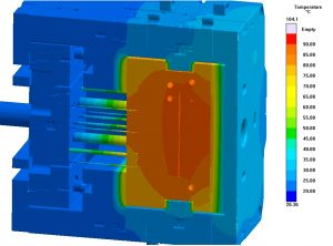 Entscheidende Merkmale der Isoform-Werkzeuge sind die Isolierung des konturgebenden Bereiches gegen das umgebende Werkzeug durch Formeinsätze und Wärmedämmplatten. (Bildquelle: Konstruktionsbüro Hein)