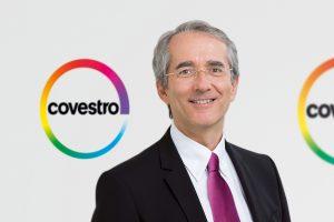 Der Vorstandsvorsitzende von Covestro, Patrick Thomas, will seinen aktuellen Vertrag nicht mehr verlängern. Damit scheidet er Ende 2018 aus dem Unternehmen aus. (Bildquelle: Covestro)