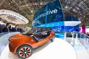 """""""Polycarbonat eignet sich auch sehr gut für Zukunftstechnologien wie autonomes Fahren"""", erklärt Michelle Jou, Covestro. Im Bild: Das Design-Konzeptauto von Covestro, das das Unternehmen auf der K 2016 vorstellte. (Bildquelle: Covestro)"""