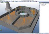 2D-Fräsbearbeitung mit Waveformtechnologie (Bildquelle: Mecadat)