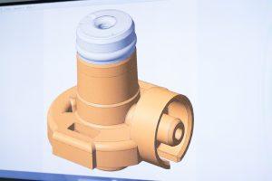 Das 3D-Modell der gescannten Bauteile wird anschließend mit dem CAD-Modell abgeglichen, um die nötigen Korrekturen am Werkzeug zu ermitteln. (Bildquelle: Zeiss)