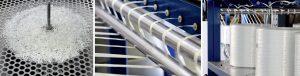 Mit der Anlagentechnik entstehen durch Pultrusion hochwertige langfaserverstärkte Granulate mit vielfältiger Polymermatrix. (Bildquelle: Protec)