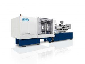 Die Spritzgießmaschine mit hybriden Spritzaggregat ist die Basis für die effiziente  Produktion von Verschlüssen. (Bildquelle: Netstal)