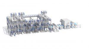 Die neue Anlage steht für Effizienz und Maschinenintelligenz. (Bildquelle: Reifenhäuser Reicofil)