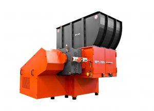 Zerkleinerer für die Verarbeitung von großvolumigen und massiven Kunststoffteilen (Bildquelle: Weima Maschinenbau)