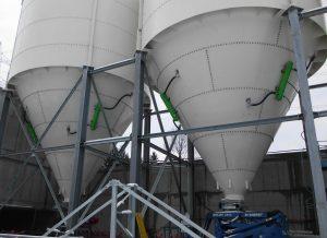 Luftkanone am Silo (Bildquelle: B+W)