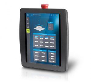 Mobiles Multitouch-Bedienpanel im Hochkantformat (Bildquelle: Sigmatek)