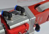 Hubbegrenzer mit Einstellskala für Greiferzangen (Bildquelle: Feba Automation)