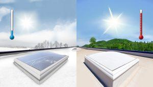 Das Glas bleibt transparent bei niedrigen und ist milchig-weiß bei höheren Temperaturen. (Bildquelle: Quarzwerke)