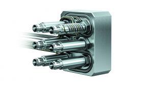 6-fach Heißkanalsystem für Kleinspritzgießmaschinen (Bildquelle: Ewikon)