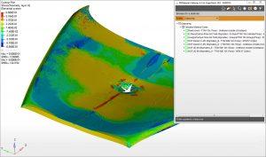 Analyse eines Motorhaubenaufpralls (Bildquelle: Granta)