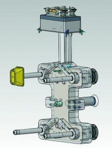 4-fach-Heißkanalsystem mit Nadelverschlusstechnik zur direkten Anspritzung des Bechers