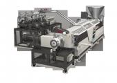 Prozesseinheit mit Extruder, Filtrationssystem und Online-Viskosimeter (Bildquelle: Gneuß)