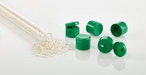 Klappdeckelverschlüsse aus Regranulat (Bildquelle: Grüner Punkt)