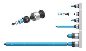 Die internen Nadelverschlussdüsen sind in einer Vielzahl von Größen für viele verschiedene Spritzgießanwendungen erhältlich. (Bildquelle: MHS)