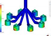 Moldflow-Füllsimulation (Bildquelle: Braunform)