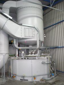 Die Venturi-Nassabscheideanlage regelt automatisch die benötigte Luftmenge nach. (Bildquelle: Keller Lufttechnik)