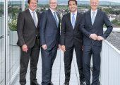 Die neugeordnete Geschäftsführung der Reifenhäuser-Holding (v.l.): Ulrich Reifenhäuser, Karsten Kratz, Bernd Reifenhäuser (CEO), Dr. Bernd Kunze. (Bildquelle: Reifenhäuser)