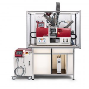 2K-Spritzgussmaschine mit 1+1fach-Werkzeug (Bildquelle: Christmann)