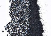 Im Vergleich: Linsen- und Mikrogranulat (Bildquelle: Grafe/HD Kunststoffe)